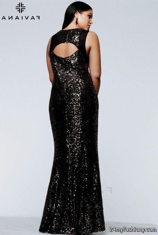 Sequin plus size formal dresses