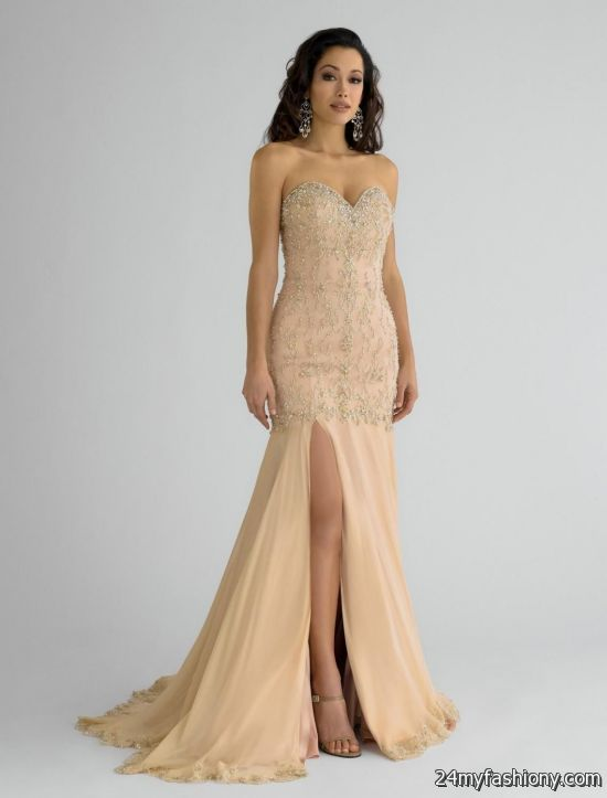 gold and ivory prom dress 2016-2017 | B2B Fashion