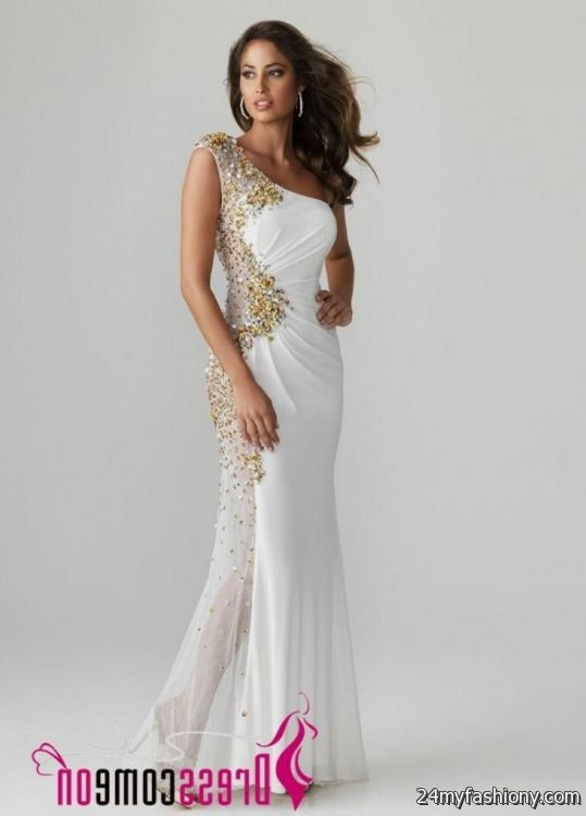 gold and white evening gowns 2016-2017 | B2B Fashion