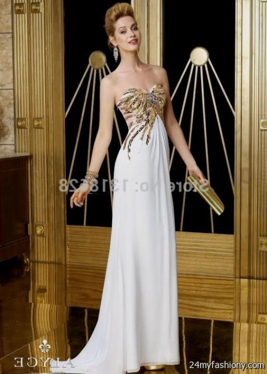 gold and white fitted prom dresses 20162017 b2b fashion