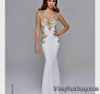 gold and white fitted prom dresses 2016-2017 » B2B Fashion