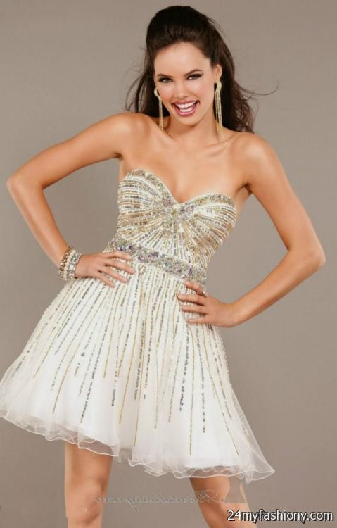 gold and white homecoming dress | Gommap Blog