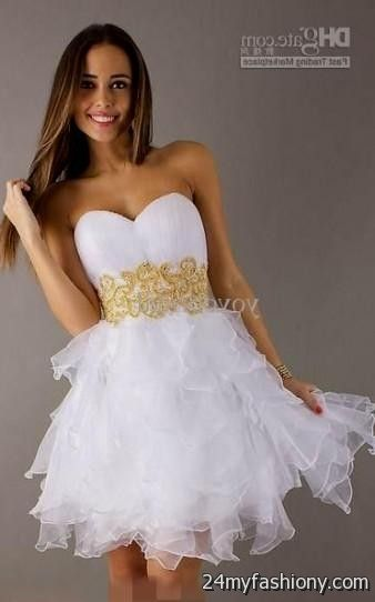 white and gold homecoming dresses | Gommap Blog