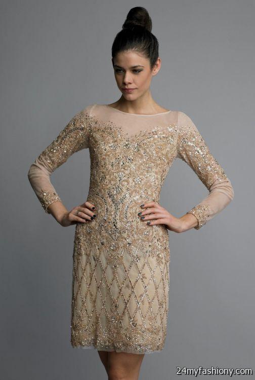 Gold Cocktail Dresses 2016