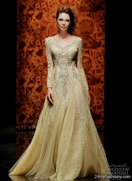 gold couture evening gowns 2016-2017 | B2B Fashion