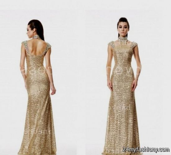 Gold Evening Gowns With Sleeves Looks B2b Fashion