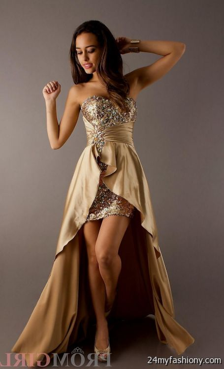 gold high low prom dresses 2016-2017 » B2B Fashion