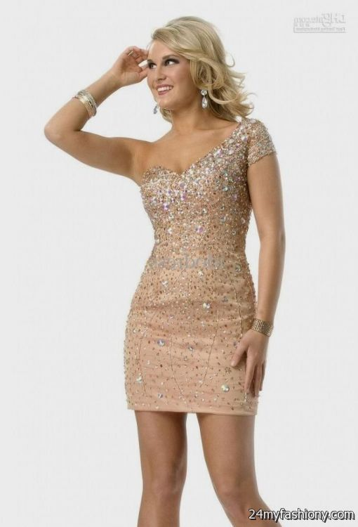 Gold Homecoming Dresses with Sleeves