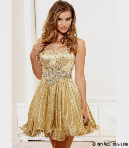 gold homecoming dress with straps 2016-2017 » B2B Fashion