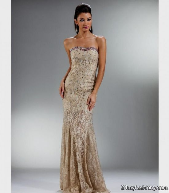 gold lace prom dress 2016-2017 | B2B Fashion