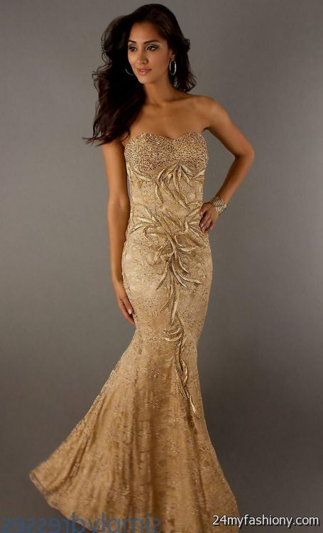 gold mermaid prom dresses 20162017 b2b fashion