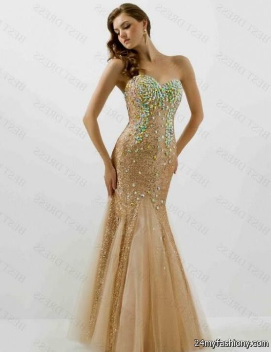 Gold Mermaid Prom Dress Www Imgkid Com The Image Kid