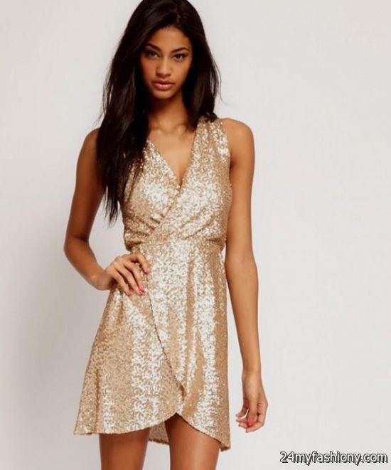 Images of Gold Party Dresses - Reikian