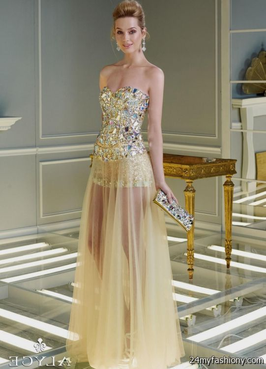 Images of Gold Dresses For Women - Reikian