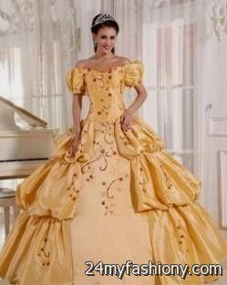 gold princess ball gowns 2016-2017 » B2B Fashion