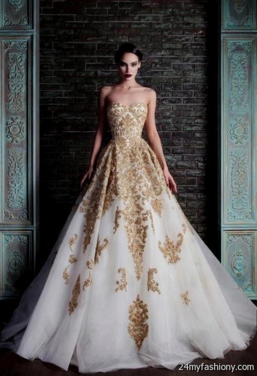 Gold wedding dress 2017 2018 b2b fashion for A gold wedding dress
