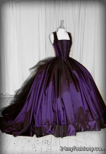 gothic purple wedding dresses 2016-2017 | B2B Fashion