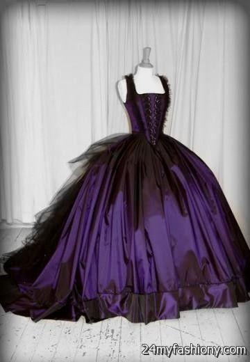 gothic purple wedding dresses 2016-2017 | B2B Fashion
