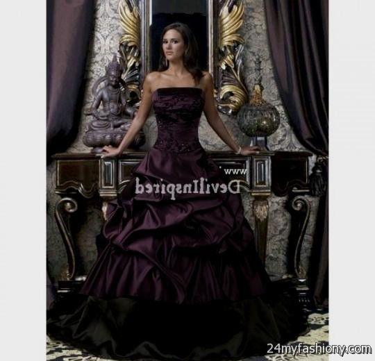 Plus Size Gothic Wedding Dresses 2016 2017