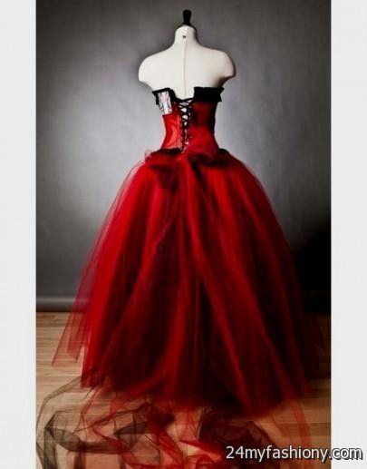 Gothic Prom Dresses Red And Black - Purple Graduation Dresses