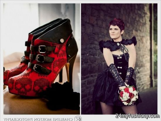 Red and black gothic dresses 2017