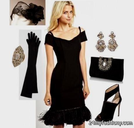 Great Gatsby Inspired Dresses Black Looks B2b Fashion