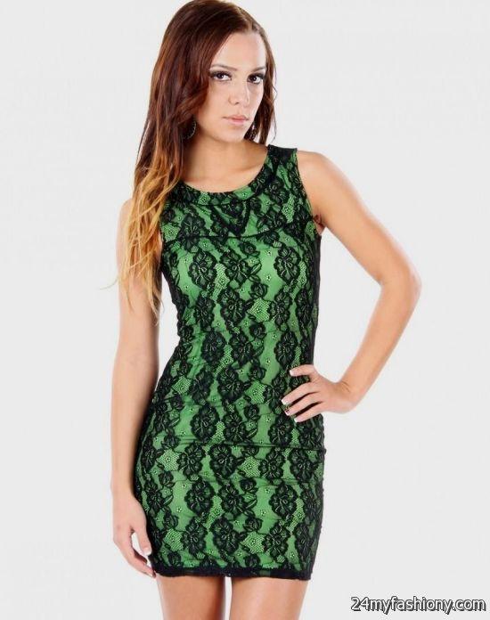 green and black lace dress 20162017 b2b fashion