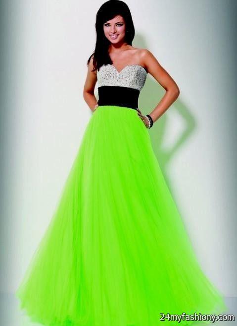 Prom Dresses Green And Black - Eligent Prom Dresses