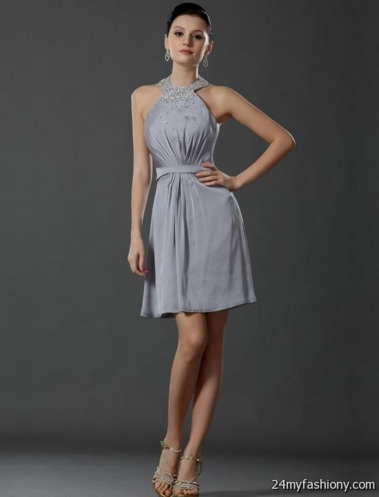 light grey chiffon bridesmaid dress. It can be difficult trying to decide on a wedding color theme once the wedding planning begins, but Jasmine Bridal has so many pretty colors to choose from that will fit your wedding party perfectly.