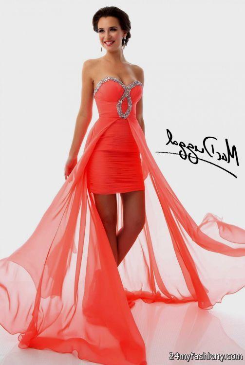 high low dresses casual coral 2016-2017 » B2B Fashion