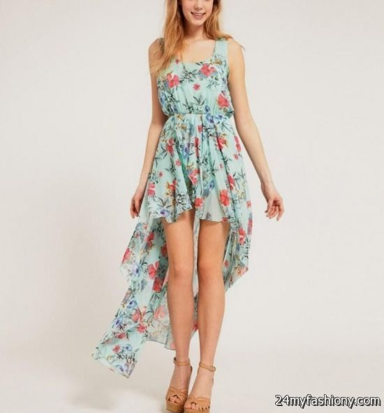 high low dresses casual floral 2016-2017 » B2B Fashion