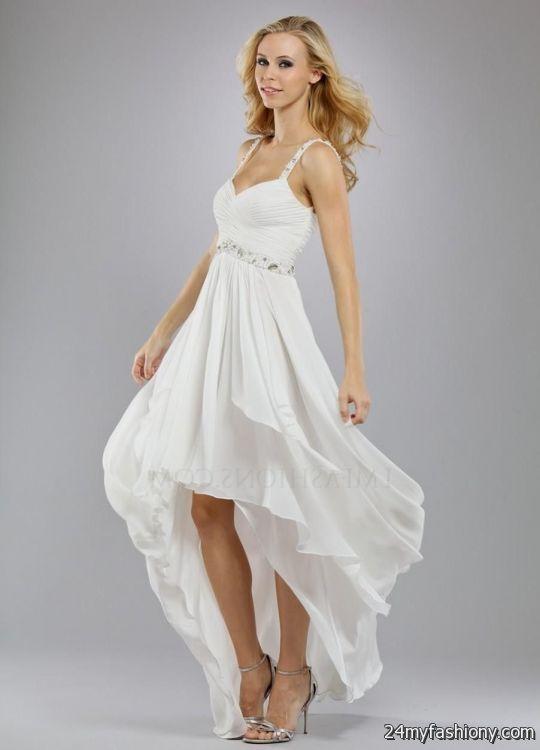 High Low Dresses Casual White Looks B2b Fashion