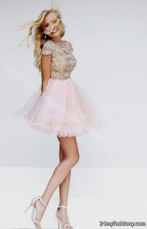 Homecoming Dresses With Cap Sleeves 116