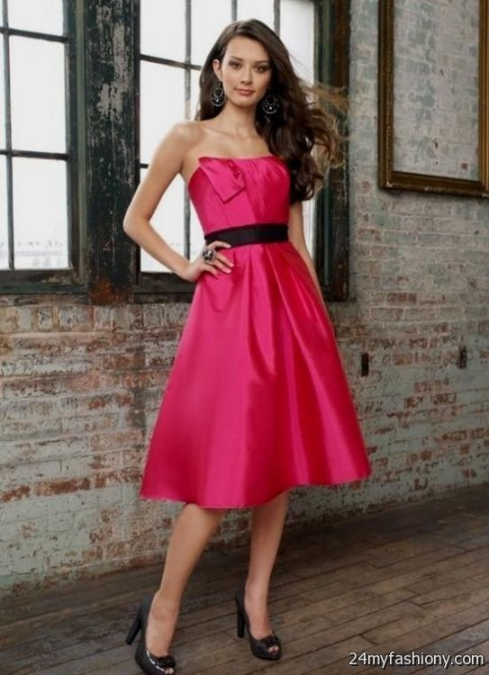 Hot Pink And Black Bridesmaid Dresses 2016 2017