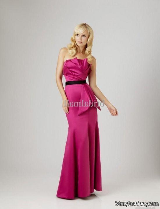 bridesmaid dresses hot pink and black flower girl dresses