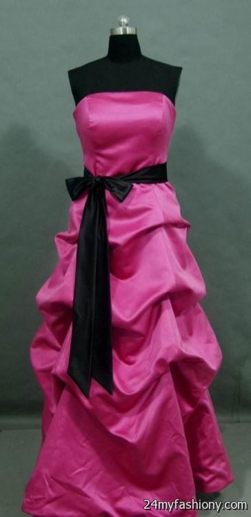 hot pink and black bridesmaid dresses 20162017 b2b fashion