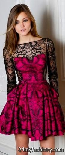 Pink and Black Dresses