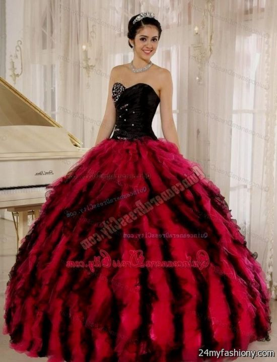 Prom Dresses Hot Pink And Black 108