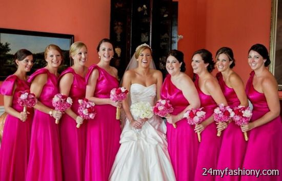 You Can Share These Hot Pink Bridesmaid Dresses David S Bridal On Facebook Stumble Upon My E Linked In Google Plus Twitter And All Social