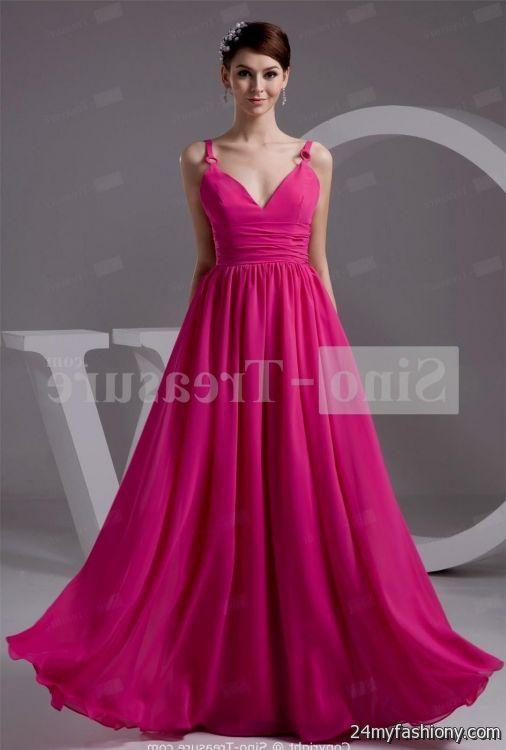 hot pink chiffon dress 2016-2017 » B2B Fashion