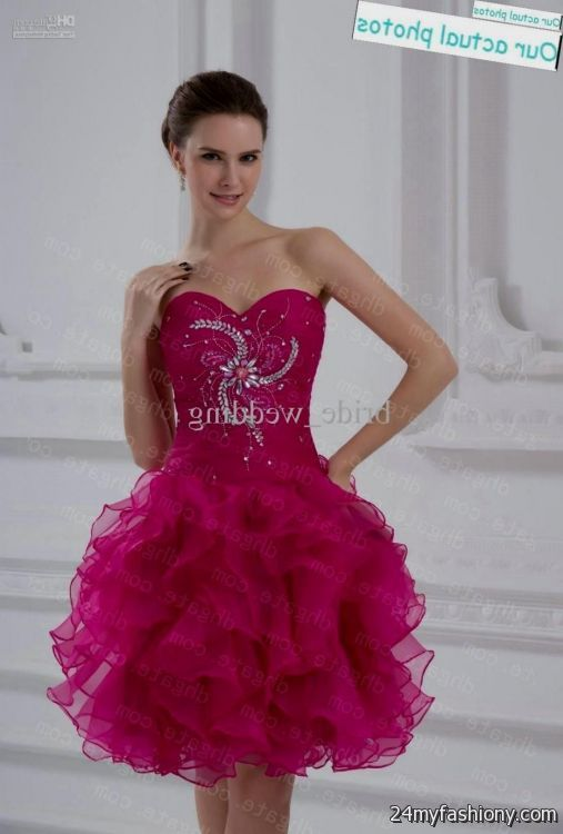 Hot Pink Homecoming Dresses 2018 36