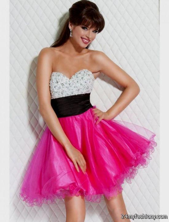 Hot Pink Homecoming Dresses 2018 27