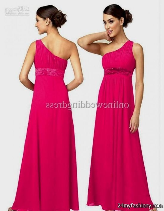 20c07458ae9 Look your best in these sexy prom dresses! Pin it. Like! You can share  these hot pink one shoulder bridesmaid ...