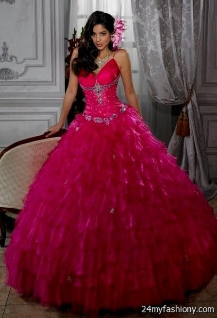 hot pink wedding dresses 2016-2017