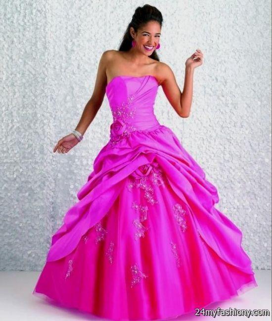 Hot Pink Wedding Photos : Hot pink wedding dresses b fashion