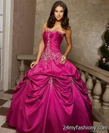 hot pink wedding dresses with feathers 2016-2017 | B2B Fashion
