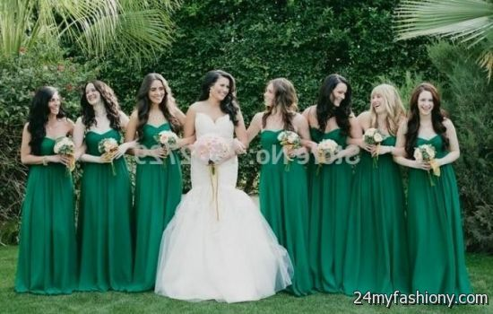 Hunter Green Bridesmaid Dresses With Sleeves - Missy Dress