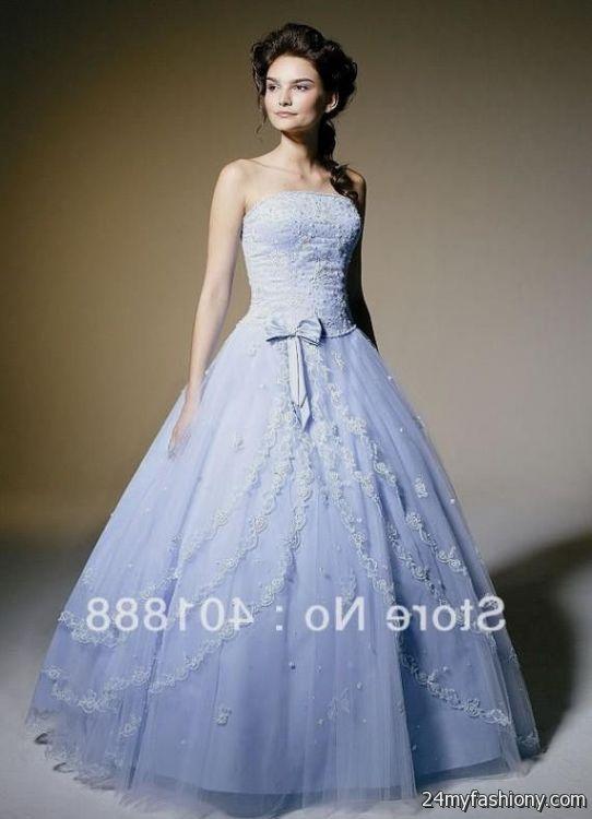 Ice Blue Ball Gown Wedding Dress Looks B2b Fashion