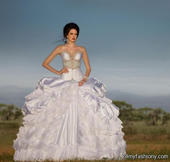 Ice Blue Ball Gown Wedding Dress Looks