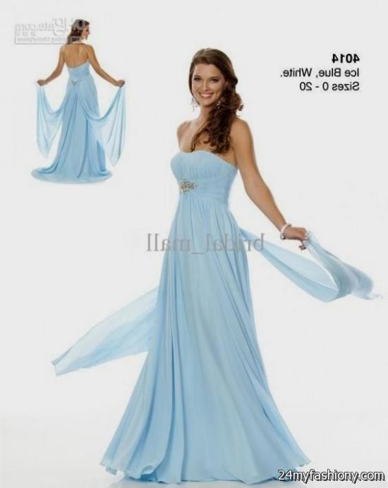 Ice blue chiffon bridesmaid dresses 2016 2017 b2b fashion for Ice blue wedding dress